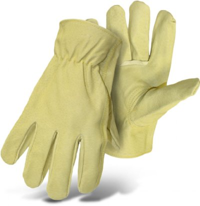 Boss Gloves 4052L Leather Work Gloves, Safety Gear - Landscape Tools garden arborists