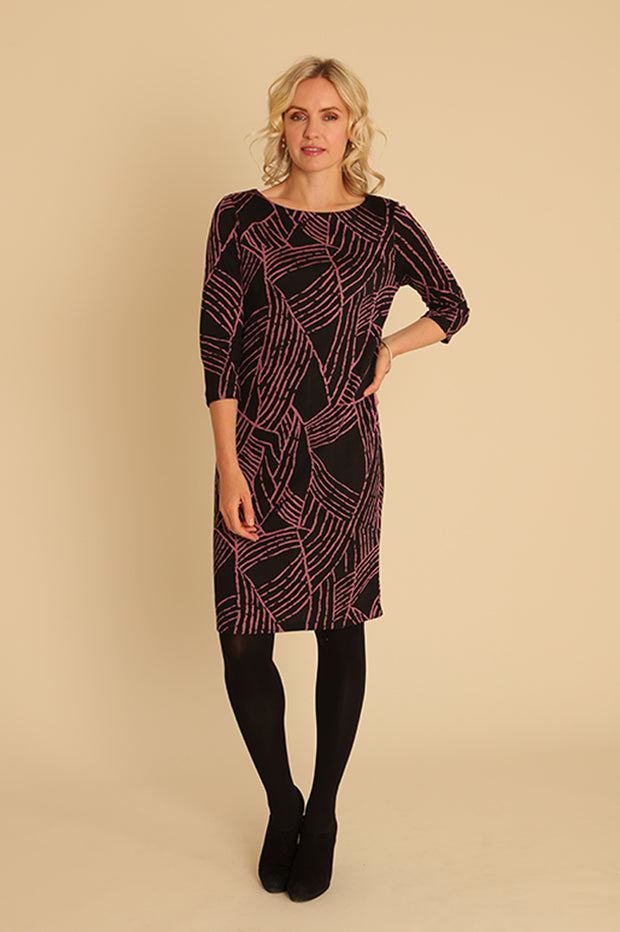 Abstract Lines Dress 11954