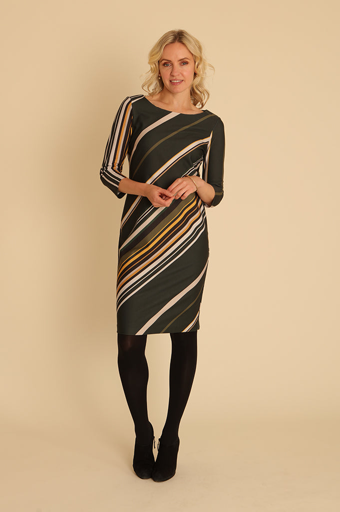 Diagonal Stripe Dress 11965