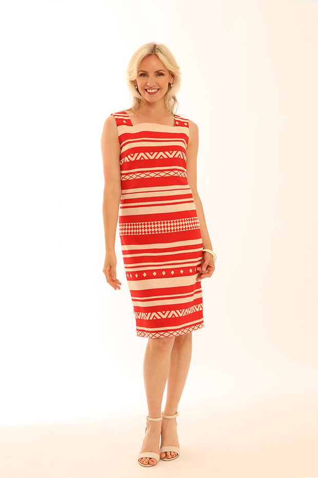 Aztec Stripe Shift Dress 12001