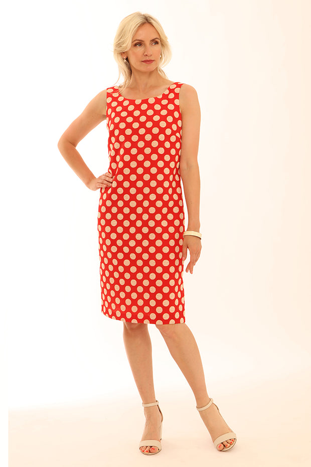 Spot Shift Dress 12003