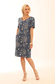 All over Embroidered short sleeve Dress 12014