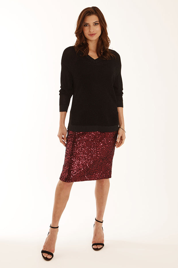 Sparkle pencil skirt 12059