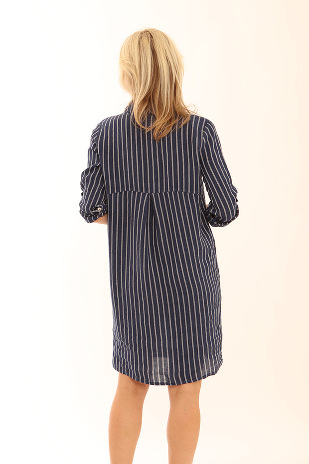 Stripe Linen dress 22005