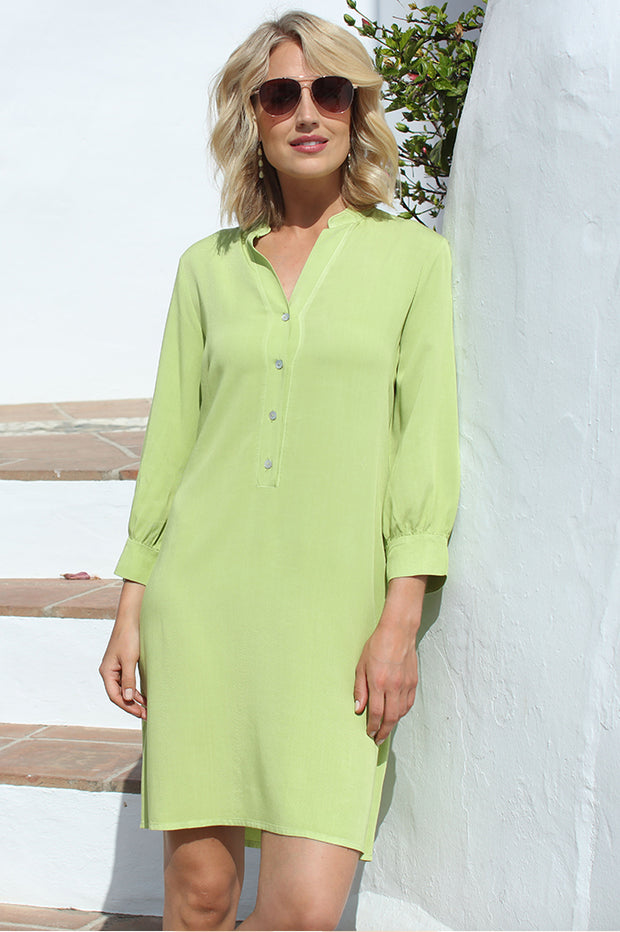 Solid Shirt Dress 22009