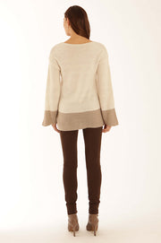 Two tone boxy sweater 22062