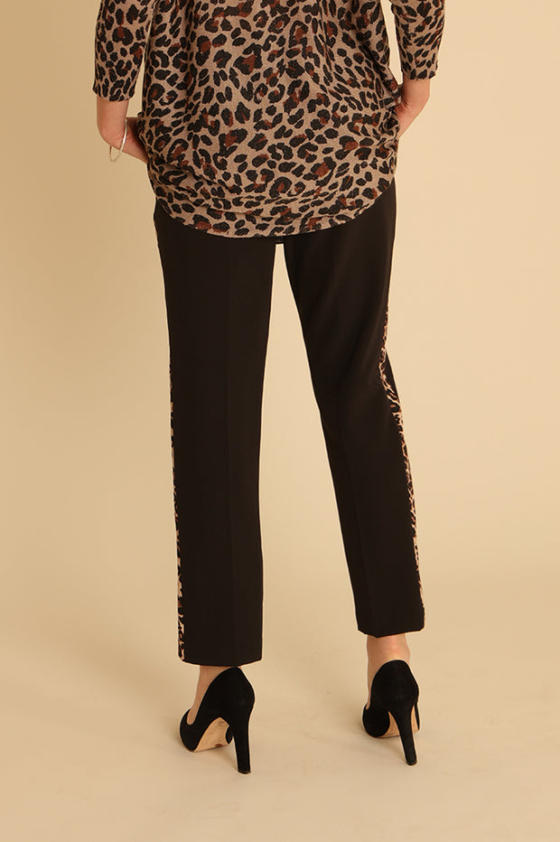 Leopard Trim Trousers 31954