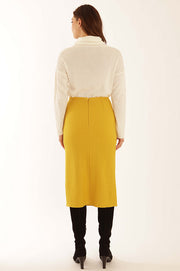 Wool blend long skirt 32051LO