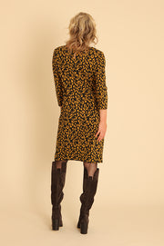 Leopard Jacquard Dress 41953