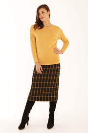 Check long skirt 42057LO