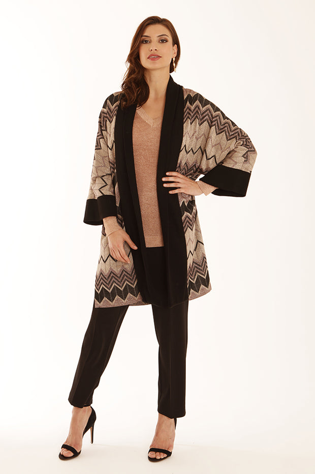 Lurex chevron cardigan 52062