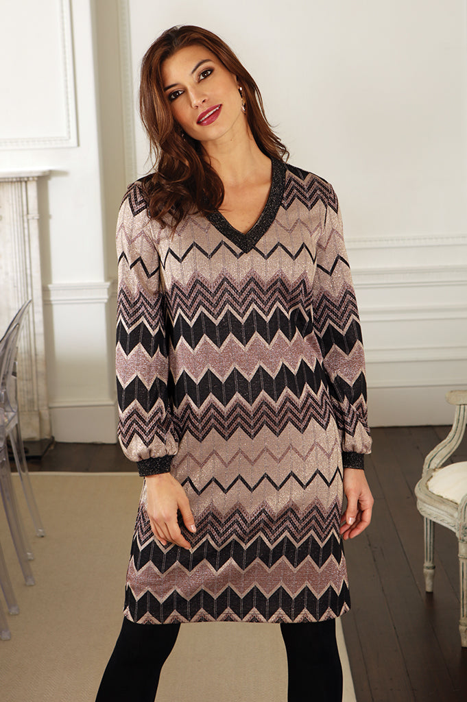 Lurex chevron dress 52064