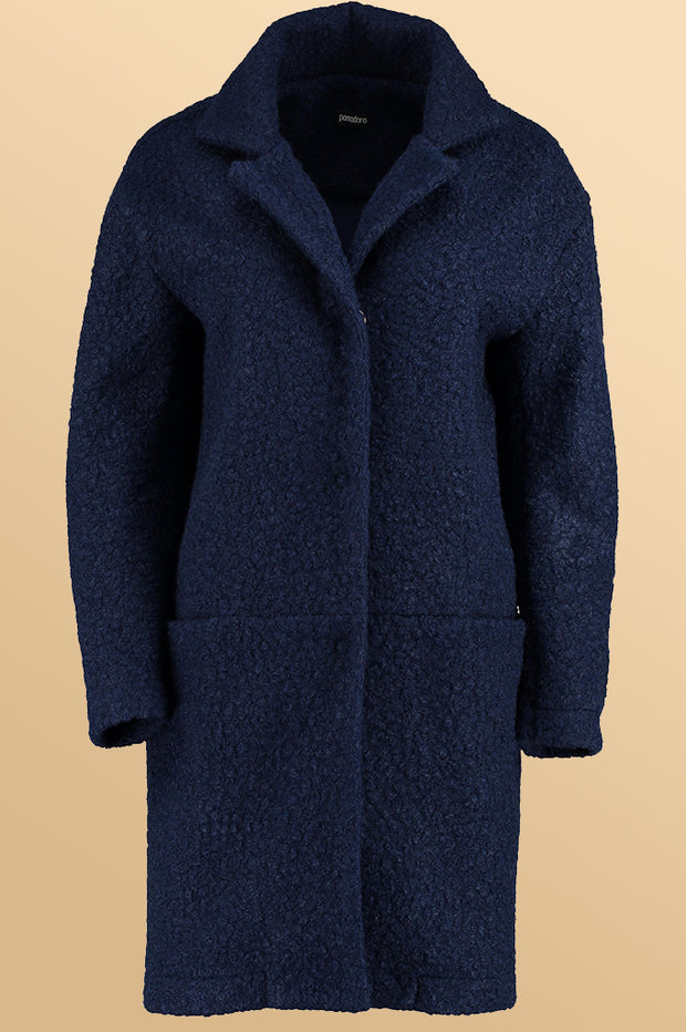 Solid Boucle Coat 61956