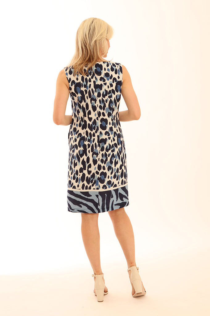 Zebra Border Linen Dress 62004