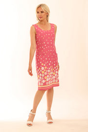 Spot Border Dress 62008