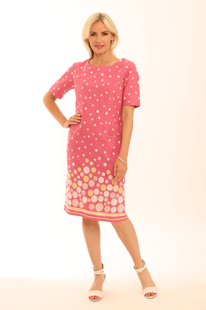 Spot Border S/S Dress 62009