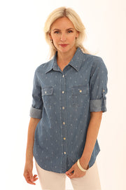 Geometric denim shirt 62012