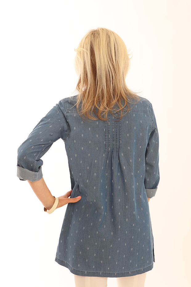 Geometric denim tunic 62013
