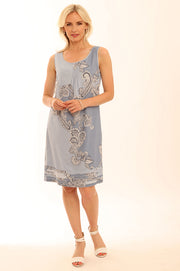 Paisley Shift Dress 62018
