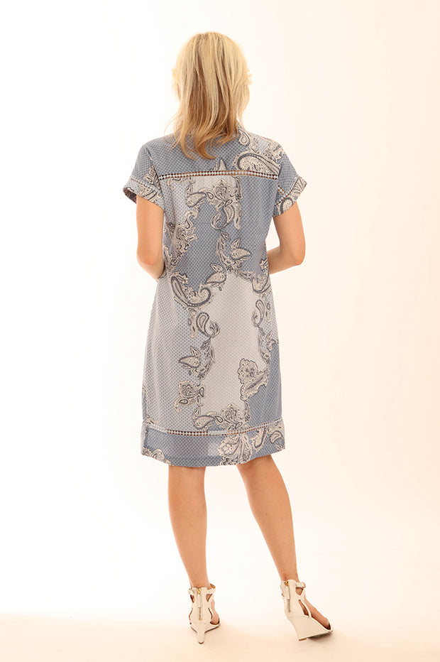 Paisley Shirt Dress 62019