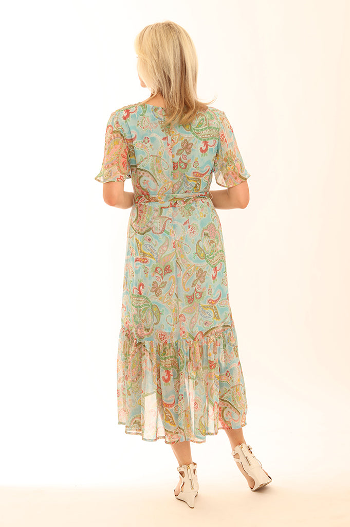 Romantic Paisley Midi Dress 72018