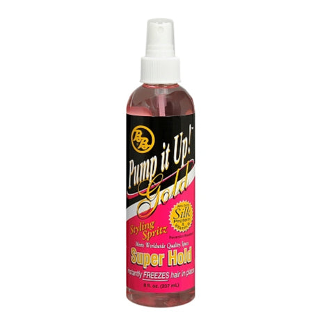 Bronner Bros Pump it Up Spritz Gold Super Hold 8 oz. - 3 PACK