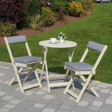 Greenhurst Raffles Bistro Set - Forest White