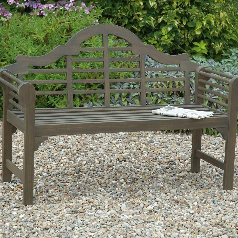 Greenhurst Lutyens Garden Bench - Woodland Grey
