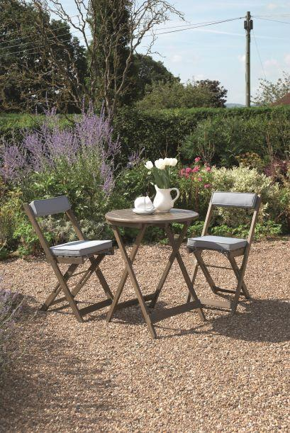 Greenhurst Raffles Bistro Set - Woodland Grey