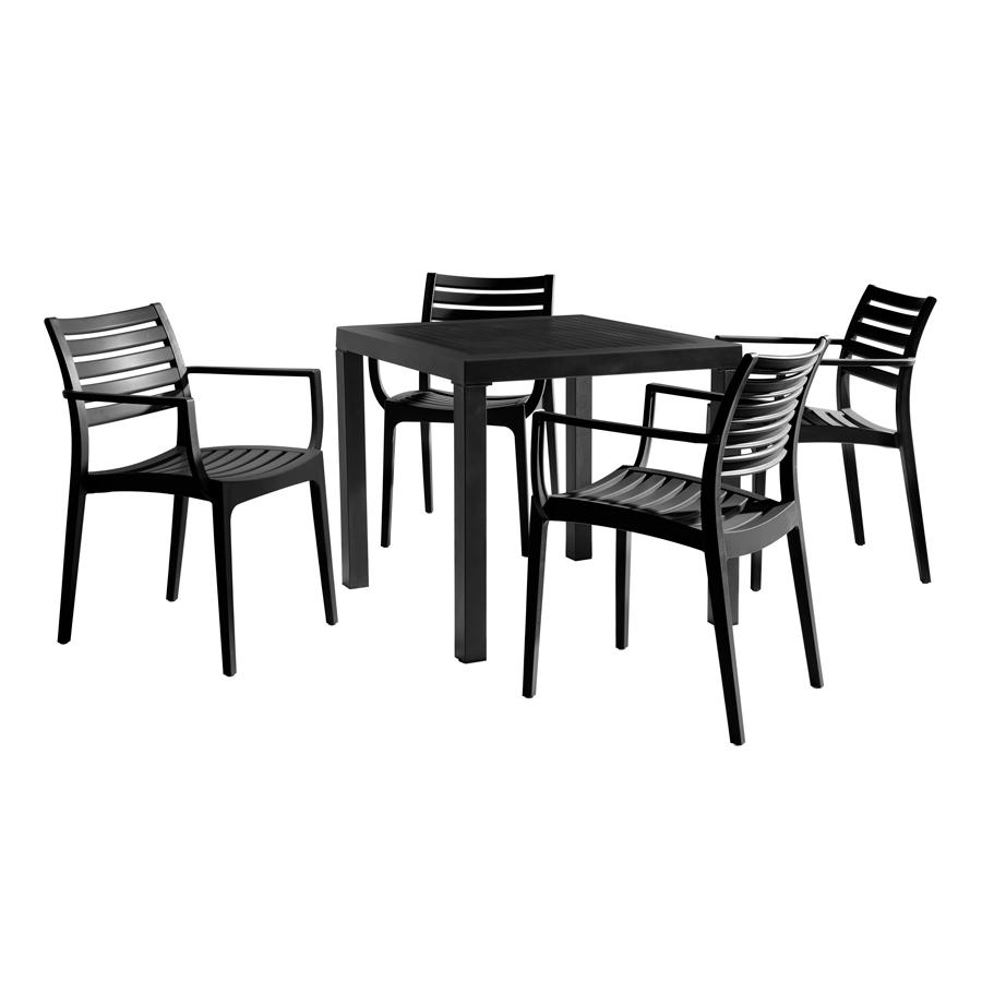 Artemis Black Garden Dining Set