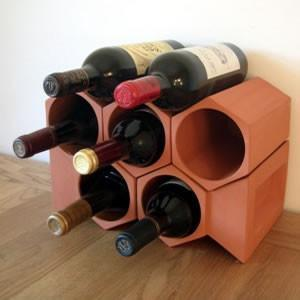 Terracotta Wine Rack 7 Bottle Set - Garden Shop Online UK Online Garden Centre