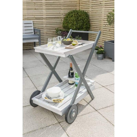 Florenity Grigio Drinks Trolley - Garden Tea Trolley