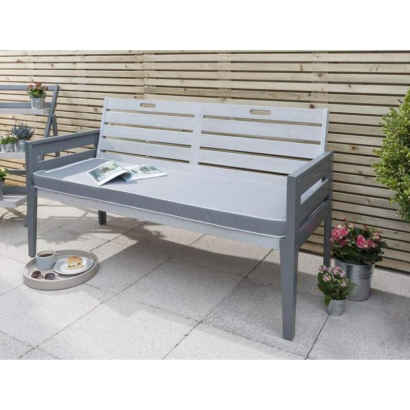 Florenity Grigio Three Seater Bench - Garden Benches