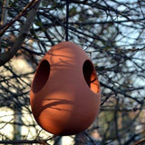 Terracotta Hanging Egg Bird Feeder