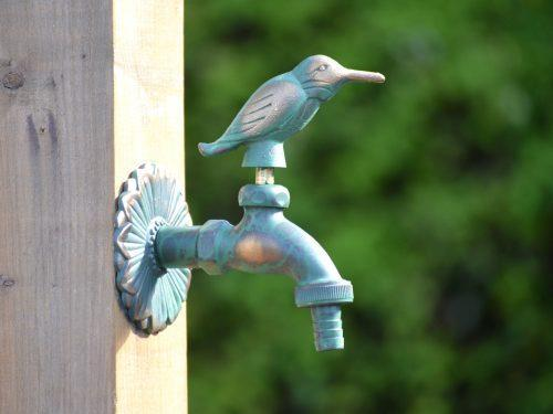 Kingfisher Ornamental Verdigris Garden Tap