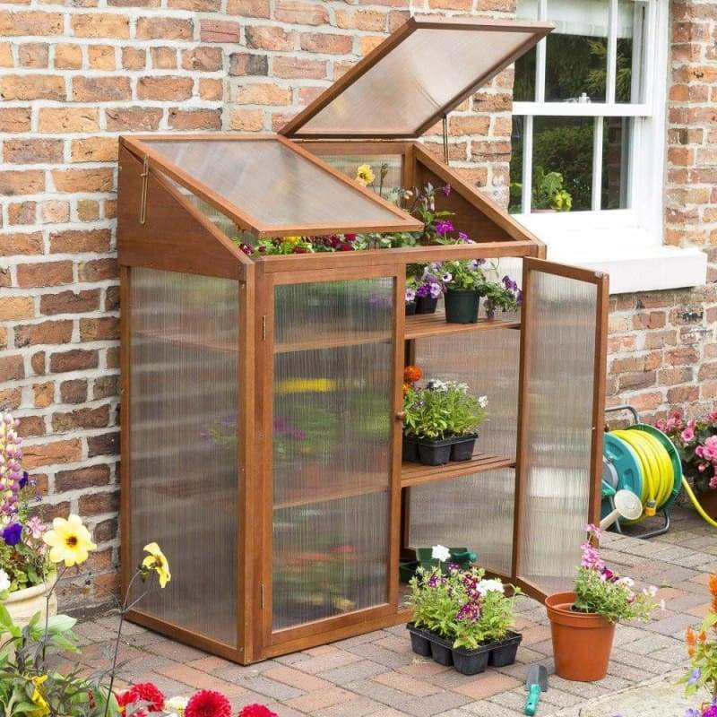 Rowlinson Hardwood Mini Greenhouse - Greenhouses