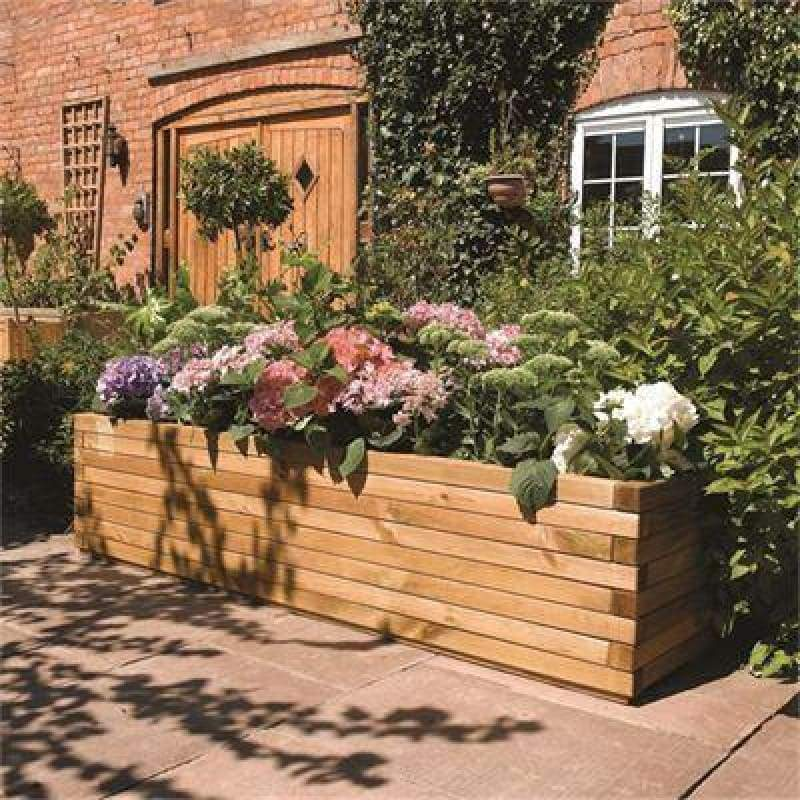 Rowlinson Large Wooden Planter - Garden Planters