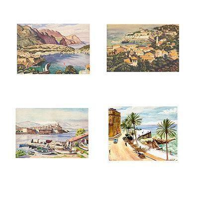 Cote d'Azur Four Print Collection - Jan Daum R.A. - Garden Shop Online UK Online Garden Centre