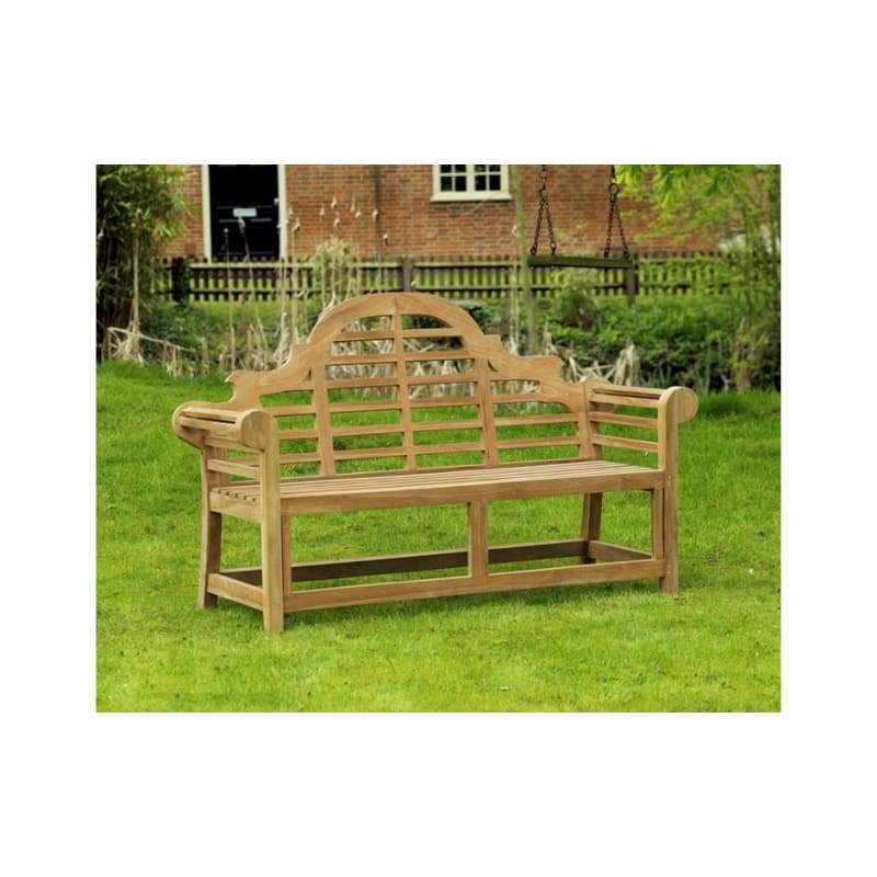 Solid Teak 3 Seater Lutyens Bench - Garden Benches
