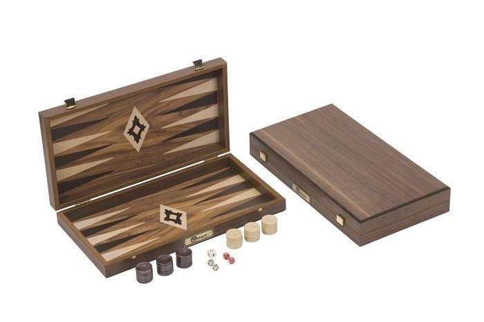 Walnut Backgammon Set - Garden Shop Online UK Online Garden Centre