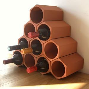 Terracotta Wine Rack 10 Bottle Set - Garden Shop Online UK Online Garden Centre