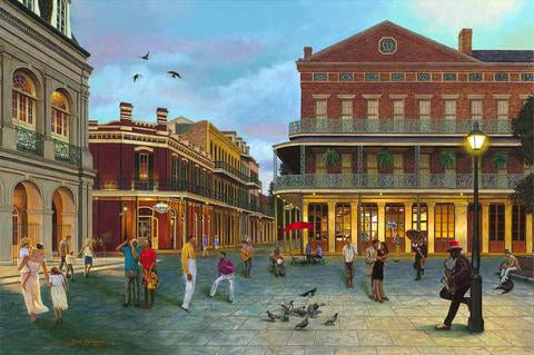 Evening at Jackson Square