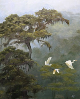 Egrets Flight