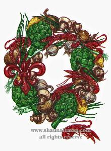 Crawfish Wreath