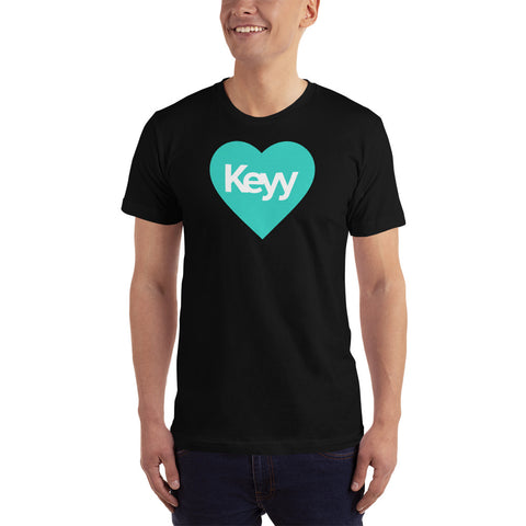 HEART Keyy T-Shirt - Turquoise