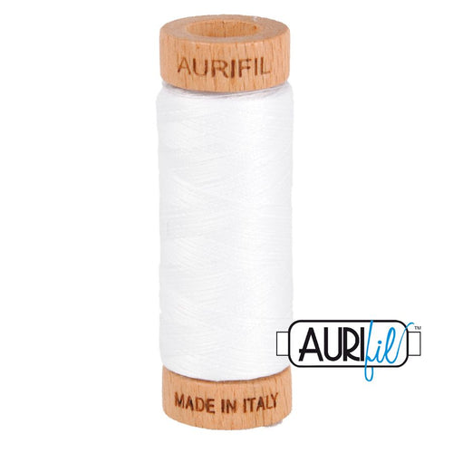 Aurifil 80wt thread - #2024  White