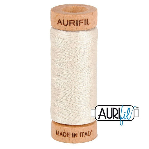 Aurifil 80wt thread - #2309 Silver White