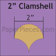 "2"" Clamshell Small Pack - 68 Paper Pieces"