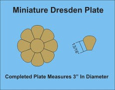 3 1/8in Mini Dresden 3 Complete Plates - Paper Pieces