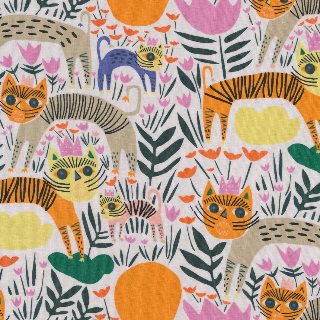 Wild Queen of Beasts By Leah Duncan - Cloud9 Organic Quilters Cotton